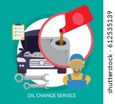 oil change service conceptual... | Shutterstock .eps vector #612535139