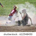 player disagrees as umpire...   Shutterstock . vector #612548450