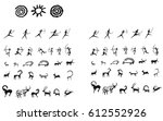 cave paintings   Shutterstock .eps vector #612552926