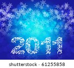 eps10 new year 2011 with winter ... | Shutterstock .eps vector #61255858