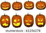 halloween jack o lanterns   Shutterstock .eps vector #61256278