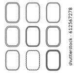 vector rope set of rectangular... | Shutterstock .eps vector #612567278