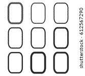 vector set of rectangular black ... | Shutterstock .eps vector #612567290
