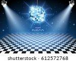 disco ball background | Shutterstock .eps vector #612572768