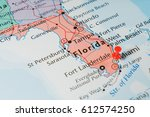 florida on the map | Shutterstock . vector #612574250
