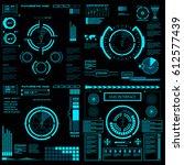 futuristic blue virtual graphic ...   Shutterstock .eps vector #612577439