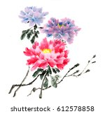 ancient chinese traditional... | Shutterstock . vector #612578858