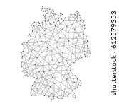 map of germany from polygonal... | Shutterstock .eps vector #612579353
