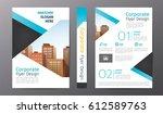 business brochure or flyer... | Shutterstock .eps vector #612589763