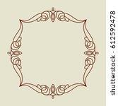 frame in retro style.vector...   Shutterstock .eps vector #612592478