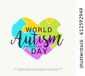 creative poster or banner of... | Shutterstock .eps vector #612592949