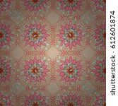 seamless floral pattern with... | Shutterstock .eps vector #612601874