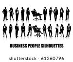 business people silhouettes | Shutterstock .eps vector #61260796