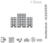building icon vector... | Shutterstock .eps vector #612625559