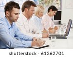 young businessman making notes... | Shutterstock . vector #61262701