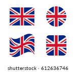 set 4 flags of united kingdom | Shutterstock .eps vector #612636746