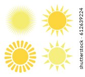 set of symbols of the sun. | Shutterstock .eps vector #612639224