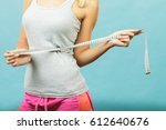 weight loss  slim body  healthy ... | Shutterstock . vector #612640676