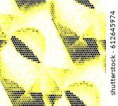 grunge halftone dots texture... | Shutterstock .eps vector #612645974
