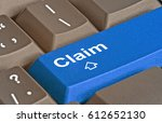 keyboard with key for claims | Shutterstock . vector #612652130