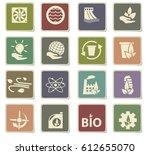 alternative energy vector icons ... | Shutterstock .eps vector #612655070