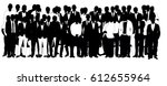 collection of black and white... | Shutterstock .eps vector #612655964