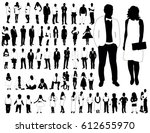 collection of black and white... | Shutterstock .eps vector #612655970