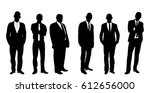 collection of black and white... | Shutterstock .eps vector #612656000