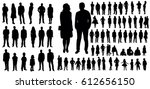 collection of people... | Shutterstock .eps vector #612656150