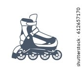 rollers and ice skates sport   Shutterstock .eps vector #612657170
