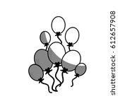 balloons icon image | Shutterstock .eps vector #612657908