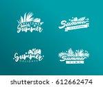 set of summer eps 10 vectors.... | Shutterstock .eps vector #612662474
