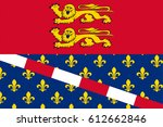 flag of eure is a department in ... | Shutterstock .eps vector #612662846