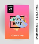 abstract background for party... | Shutterstock .eps vector #612667958