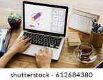graphic design icon creative... | Shutterstock . vector #612684380