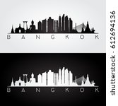 bangkok skyline and landmarks... | Shutterstock .eps vector #612694136