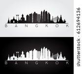 bangkok skyline and landmarks... | Shutterstock .eps vector #612694136