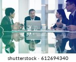 business people meeting in the... | Shutterstock . vector #612694340