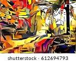interpretation of the landscape ...   Shutterstock . vector #612694793