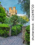 the old fortress in the italian ... | Shutterstock . vector #612698720
