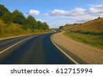 Country Asphalted Highway Wood...