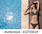young slim beautiful woman in... | Shutterstock . vector #612723614