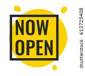 now open. vector illustration...