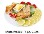 image of fillet salmon on white ... | Shutterstock . vector #61272625
