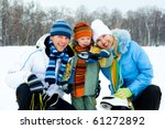 happy young parents going ice... | Shutterstock . vector #61272892