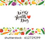 world health day poster with...   Shutterstock .eps vector #612729299