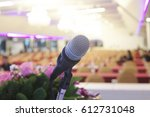 microphone soft focus on blur... | Shutterstock . vector #612731048