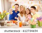 family easter selfie together    Shutterstock . vector #612734654