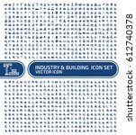 industry and building icon set... | Shutterstock .eps vector #612740378