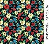 vector seamless pattern. floral ... | Shutterstock .eps vector #612749159